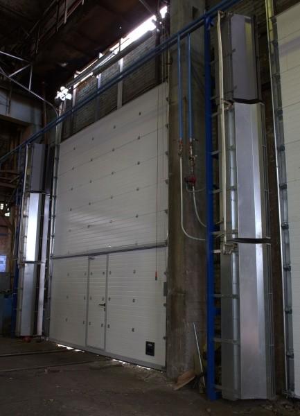 Промышленные тепловые завесы для ворот