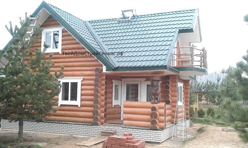 срубовые дома сруб дома 6*8 в чашу
