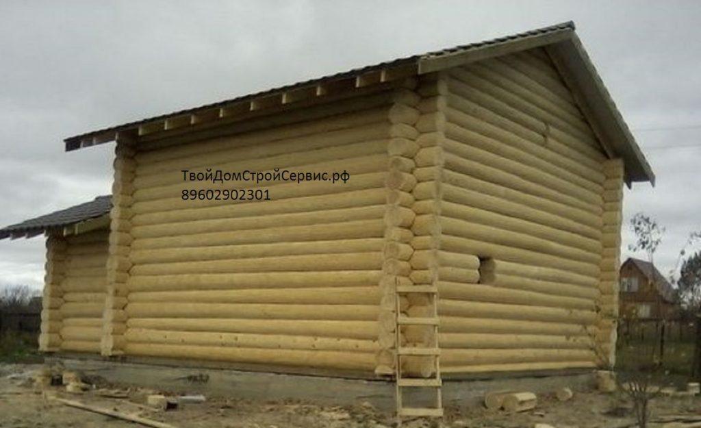 проект дома-бани 8*8 в чашу интерьер в бревенчатом доме