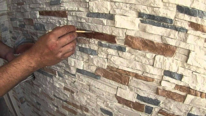Укладка гипсового декоративного камня своими руками