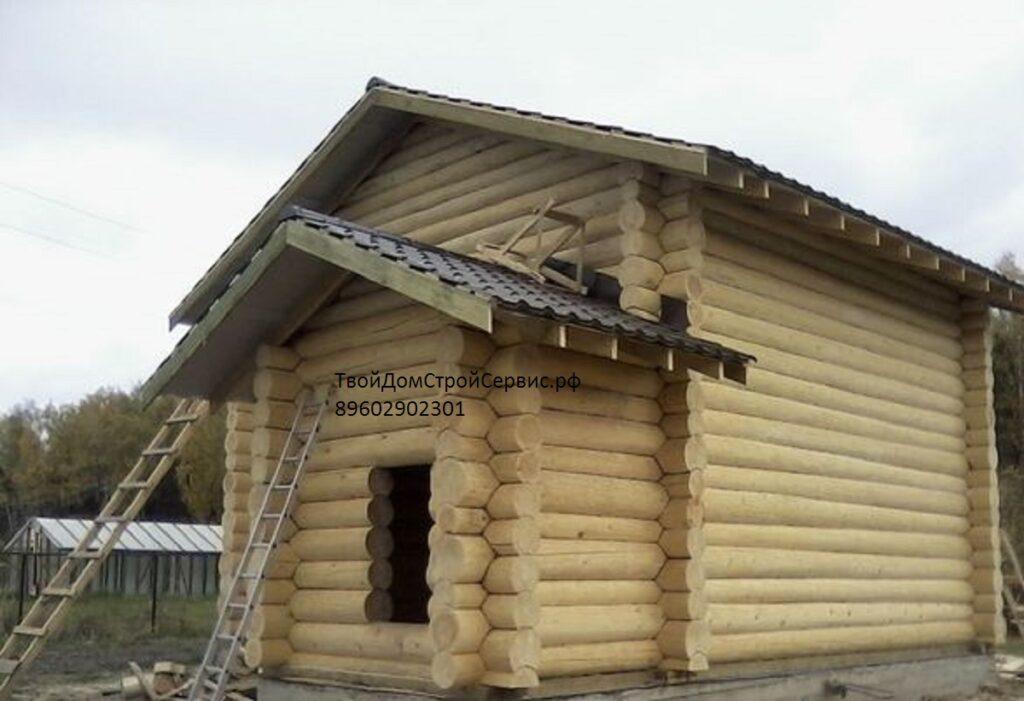 проект дома-бани 8*8 в чашу  полтора этажа Вожега