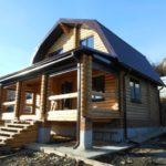 проект бревенчатого дома 8*6 в чашу