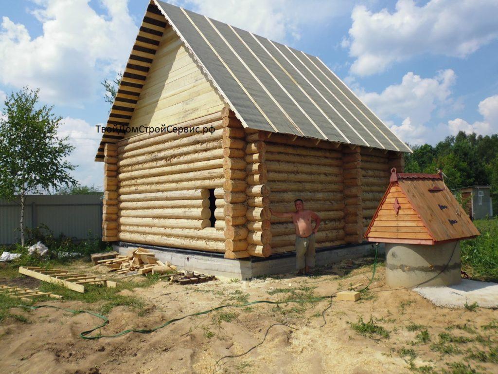 бревенчатый дом 6*6 метра сруб от ТвойДомСтройСервис
