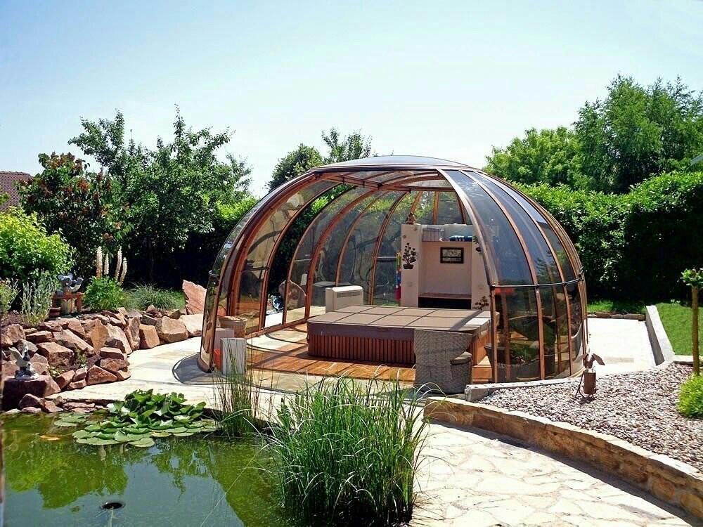 крыша для беседки из поликарбоната сотового