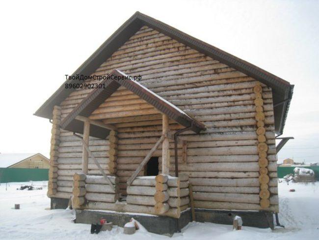 дом 8на9 в чашу, изготовлен в Вожеге