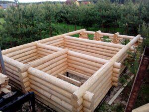 Проект бревенчатой бани 10х5 м