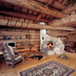 Бетонный пол в доме из дерева